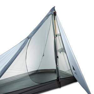 Image 2 - 3F UL הילוך Oudoor Ultralight קמפינג אוהל 1 אדם מקצועי 15D ניילון סיליקון Rodless קל אוהל קמפינג ציוד