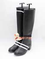 Tsukiuta Six Gravity Satsukiaoi Black Long Halloween Cosplay Shoes Boots X002