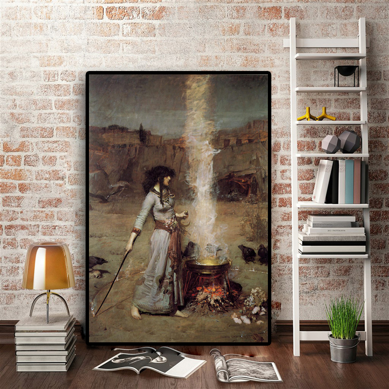 The Magic Circle by WaterhousePoster or Wall Sticker DecalWall art HD