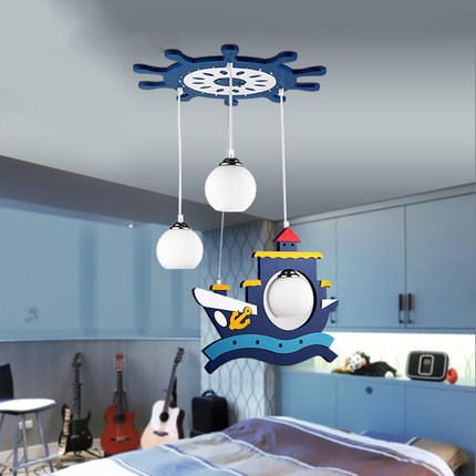 modern glass pendant light led children room pirate ship suspension luminaire carton hanging. Black Bedroom Furniture Sets. Home Design Ideas