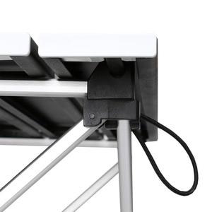 Image 2 - أثاث حديقة خارجي أسود مربع طاولات قابلة للطي مع الحقيبة التخييم في الهواء الطلق الجداول للتخييم ، المشي ، نزهة ، الصيد ، شواء