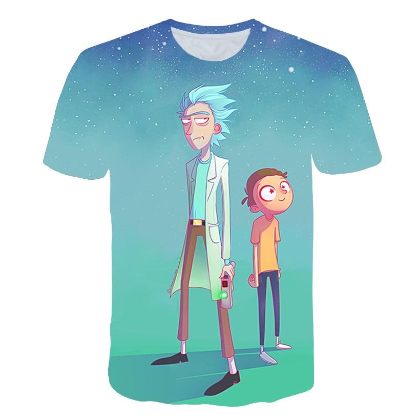Rick 3D t shirt Men Women tshirts Summer Anime T-shirt Short Sleeve Tees O-neck Tops Morty Drop Ship