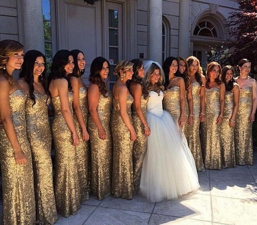 28f185a95c3 Gold Sequins Bridesmaid Dress Sexy Plus Size Wedding Party Dress Cheap  Vestido De Festa