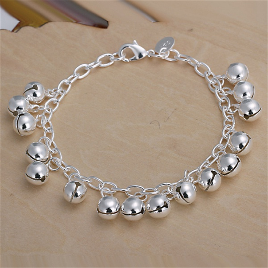Lovely bell silver color bracelets new listings high -quality fashion jewelry Christmas gifts