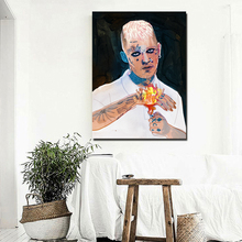 Lil Peep Awful Things Drawing Wall Art Canvas Poster And Print Canvas Painting Decorative Picture For Bedroom Modern Home Decor awful aunty