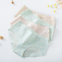 Seamless underwear women's cotton crotch sexy waist ladies underwear cotton fabric briefs wholesale