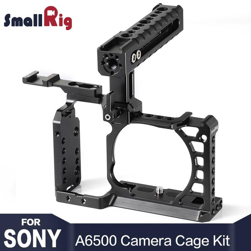 SmallRig A6500 Cage Kit для камеры Sony A6500 с верхней ручкой Холодный башмак расширение Алюминий двойной клетка 2081