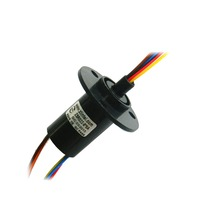 ZSR022 8R5A 8 Channel 5A High Speed Ball Slip Ring Out Dia 22mm Capsule Slip Ring