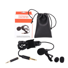 Lavalier Microphone Omnidirectional Condenser Mic for Apple Android & Windows Smartphones,Youtube,Interview,Studio,Vide
