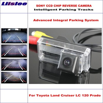 Liislee Dynamic Guidance Rear Camera For Toyota Land Cruiser LC 120 LC120 Prado HD 860 Pixels Parking Intelligentized