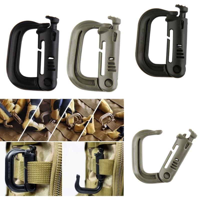 Tactical Backpack EDC Shackle Carabiner Snap Link D-Ring Clip Key Ring