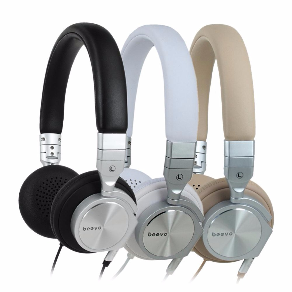Beevo HM810 HiFi Stereo Soft Headset Over Ear Music Headphones Earphones Earbuds Professional Music Party HD headphone earphone bone conduction earphones headset over ear headphones active noise cancelling hifi neckband for music listening to the phone