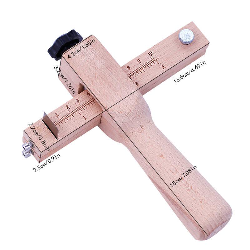 LMDZ قابل للتعديل قطاع خشبي وحزام القاطع الجلود الحرفية القاطع حزام حزام لتقوم بها بنفسك أدوات القطع اليدوية قاطع شرائط مع 5 شفرات