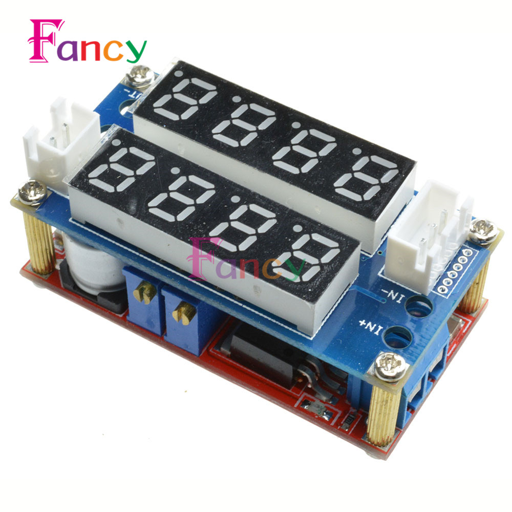 F85 5A Adjustable Power CC/CV Step-down Charge Module Digital Voltmeter Ammeter Display LED Driver for Arduino