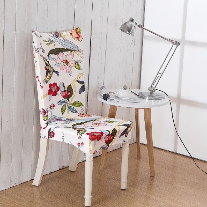 ▽1 unid spandex elástico estilo simple planta flor pájaro patrón ...