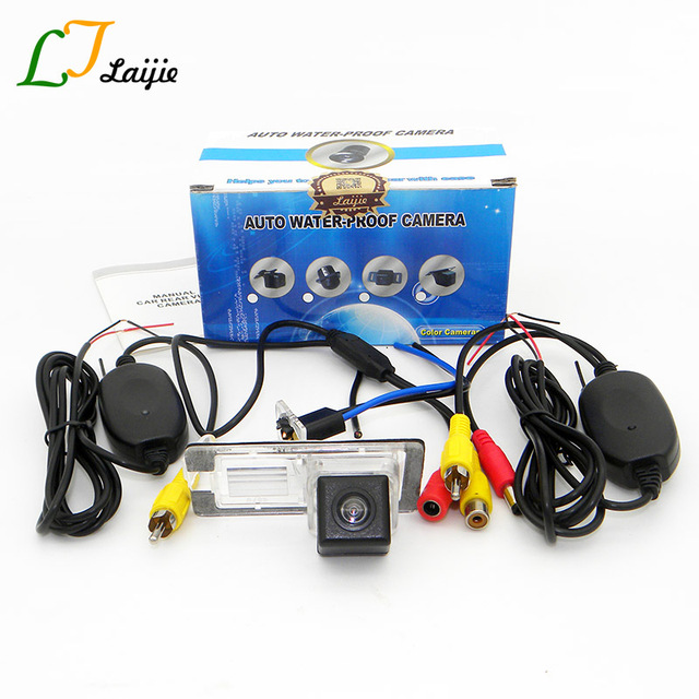 Laijie Car Reversing Parking Camera For Renault Megane 2 3 II III 2002~2016 /  HD CCD Wide Lens Angle Wireless Rear View Camera