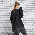 [Soonyour] 2017 primavera nueva moda o-cuello flojo proceso de bordado, además de terciopelo de manga larga gruesa caliente t-shirt mujeres ks32500