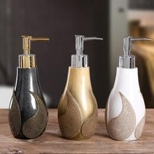 1PC Creative Resin Soap Bottle Hotel Home Shampoo Dispenser Press Hand Sanitizer Bottle Soap Dispenser Set