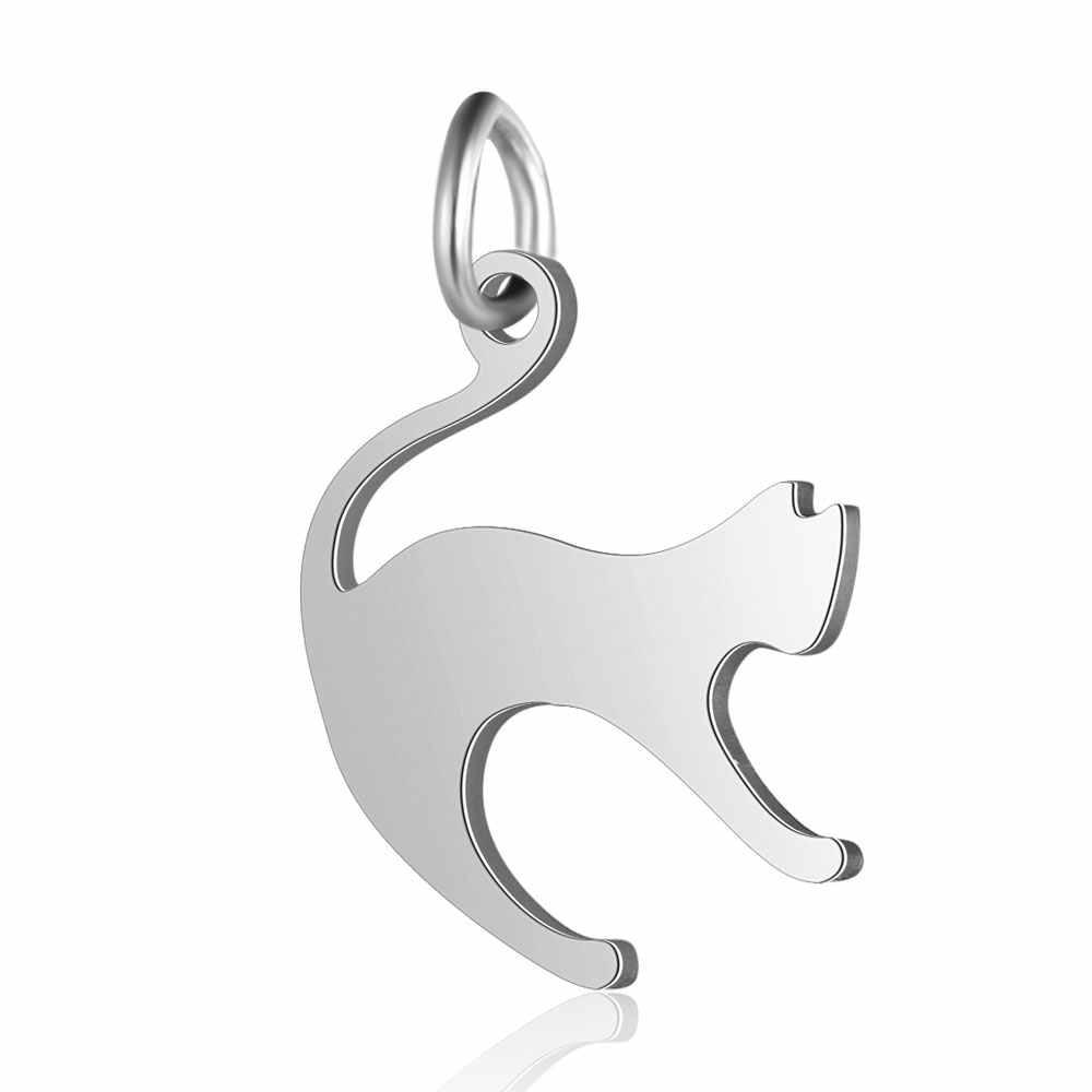 5 יח'\חבילה ריצה חתול קסמי סיטונאי 100% נירוסטה תכשיטי ביצוע קסמי פלדה גולדפילד תכשיטי קסמי 2019 חדש
