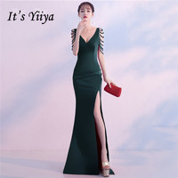 e90a171a6d3b27 It S Yiiya Party Gowns Sleeveless V Neck Elegant Green Evening Dresses  Beading Floor Length Zipper. Bekijk Aanbieding. YIDINGZS Groene Avondjurk  ...