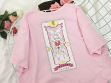 NiceMix 2019 Plus Size T Shirt Women Tops Kawaii Harajuku T-shirts Print Cartoon Female Sweet Pink Loose Tee Femme cartoon