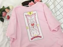 NiceMix 2019 Plus Size T Shirt Women Tops Kawaii Harajuku T-shirts Print Cartoon Female Sweet Pink Loose Tee Shirt Femme cartoon plus cartoon print tee dress