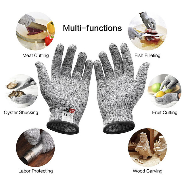 Anti Cut Gloves Safety Cut Proof Stab Resistant Stainless Steel Wire Metal Mesh Kitchen Butcher Cut-Resistant Tactical Gloves