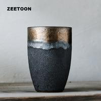 280ml Japanese Style Lover's Coarse Pottery Coffee Mug Teacup Jingdezhen Ceramic Master Tea Cup Creative Vintage Home Decoration