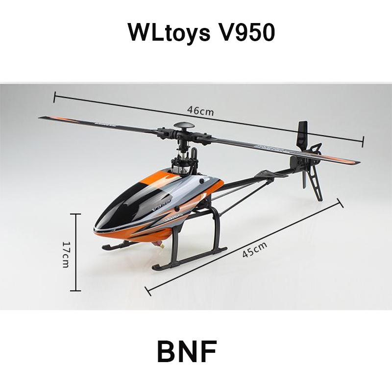Helicóptero WLtoys V950 BNF (sin mando a distancia) (con batería y cargador) (Puede usar el transmisor V977 V966)-in Helicópteros RC from Juguetes y pasatiempos    1