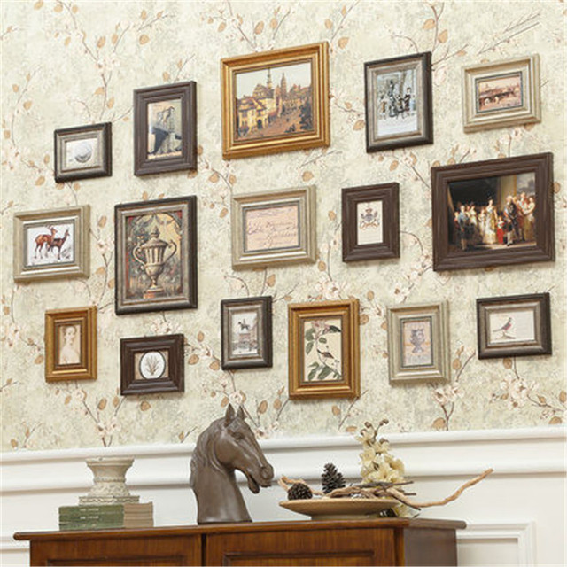 Gold picture frames gold picture frames Photo Frame Set Wall Mural ...