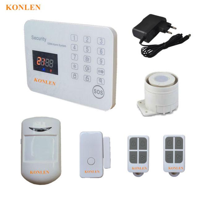 wireless wired home alarm system gsm alarme residencial burglar anti