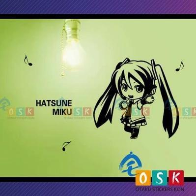 Pegatina Anime Cartoon Car Sticker Hatsune Miku Vinyl Wall Stickers Decal Decor Home Decoration 001