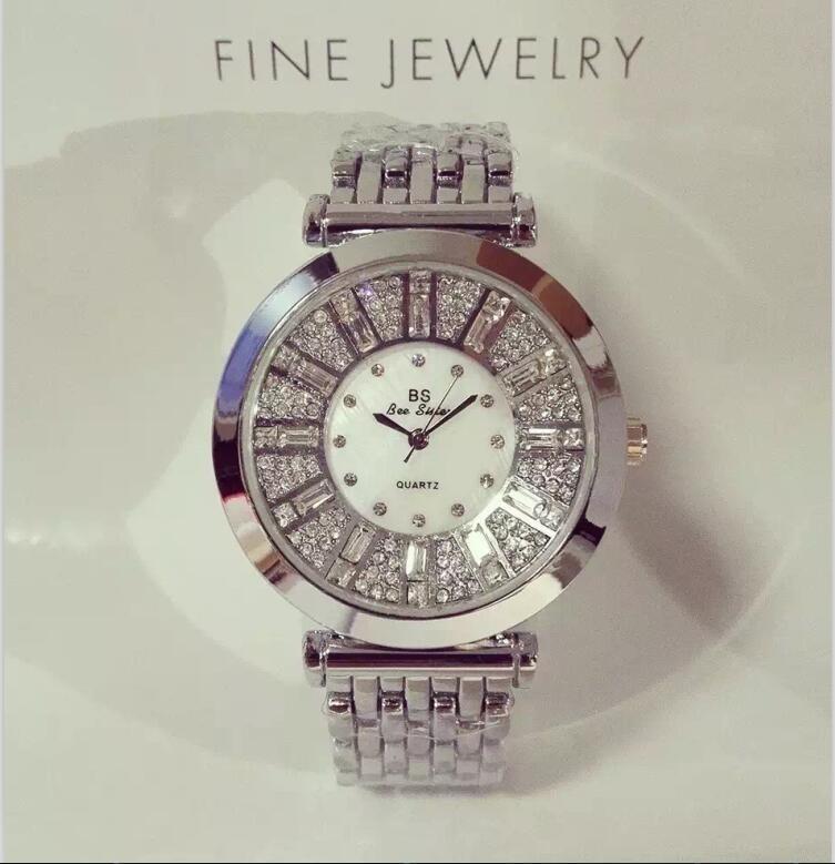 2019 Brand Fashion Women Watches High Quality Austrian Diamond Women Rhinestone Watches, Rose Gold Woman Lady Dress Watch Clocks