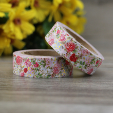 10m Flower Copper Heart Gold Foil Washi Tape Paper Scrapbooking Masking Tape Adhesive Tape Sticker Decorative Stationery Tapes