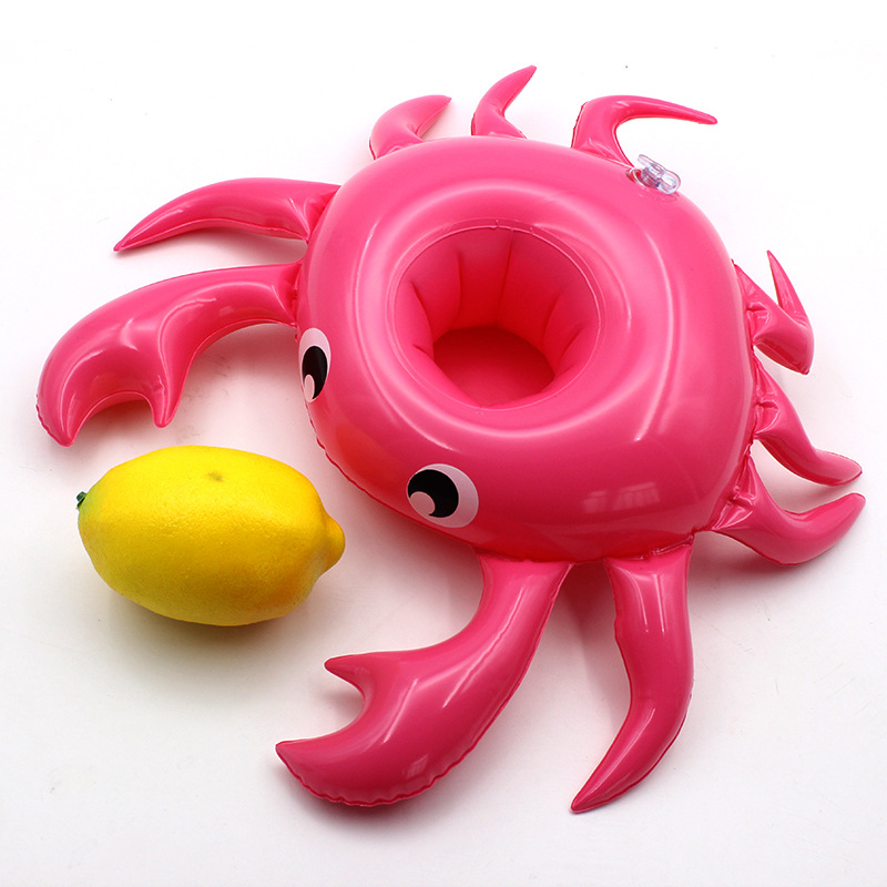 Mini Inflatable Cup Holder Flamingo Drink Holder Pool Float PVC Swimming Pool Bathing Kids Toy Party