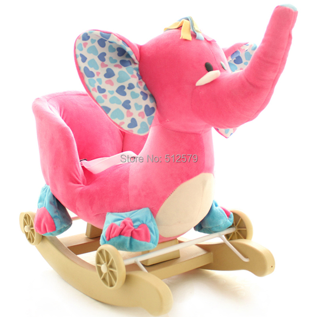 Baby swing Plush Baby Rocking Chair Baby Bouncer Wood Swing Seat Outdoor Baby Bumper Kids Ride on Rocking Stroller Toy