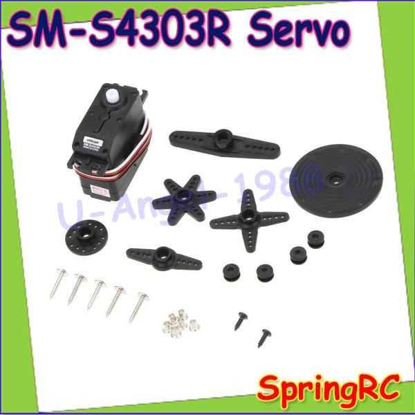 2pcs/lot Original SpringRC SM-S4303R Large Continuous Rotation 360 Degree Plastic micro Servo motor for Robot RC part Wholesale levett caesar prostate massager for 360 degree rotation g spot