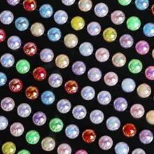 216/260 шт Самоклеющиеся скрап-имитация наклейки в форме жемчуга акриловые персонализированные алмазные наклейки украшения для фоторамки