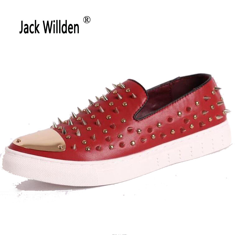 Sapatos rouge Toe Roud Casual Véritable Pic Chaussures Zapatillas Homens Noir bleu Rivets En Willden Hommes Mocassins Jack Zapatos as Robe Hombre Cuir SUqVGMzp