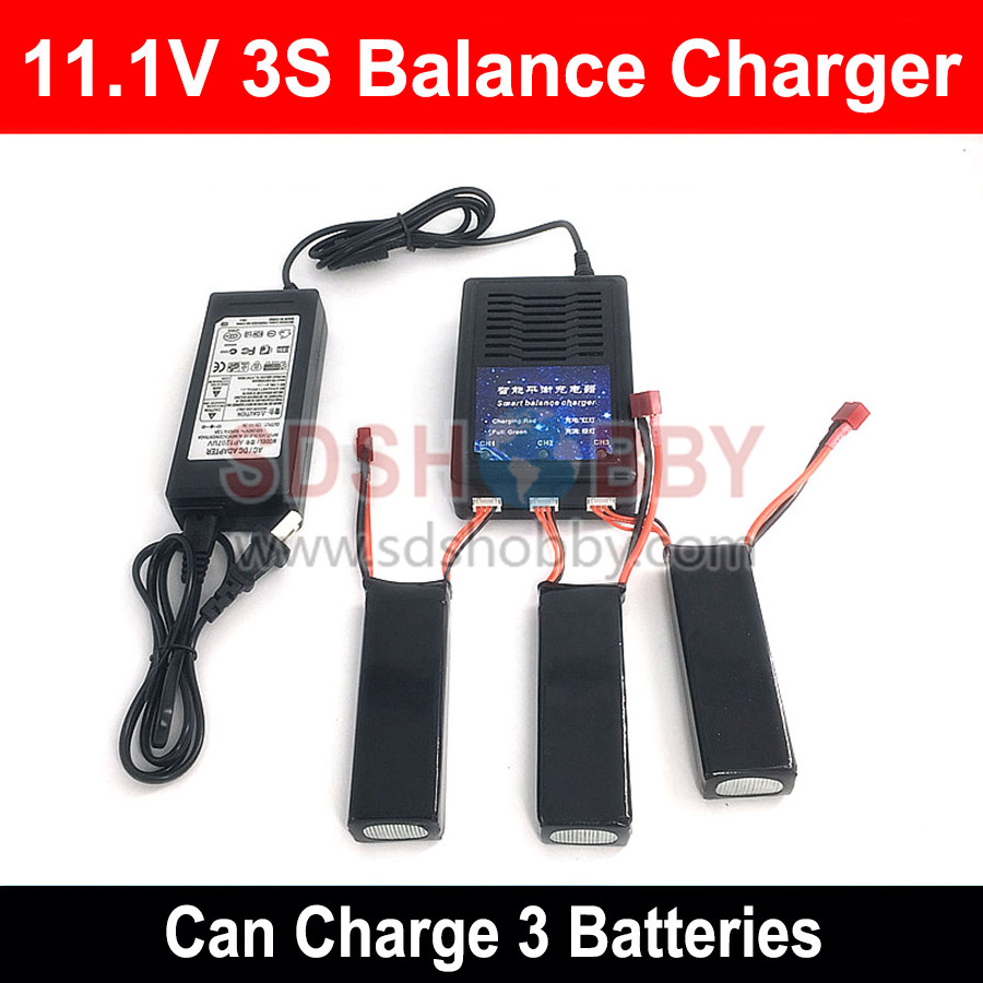 RC Model Battery Charger 3 in 1 Intelligent Balance Charger 11.1V 3S Parallel Charging Adapter 2 in 1 battery charger charging docking