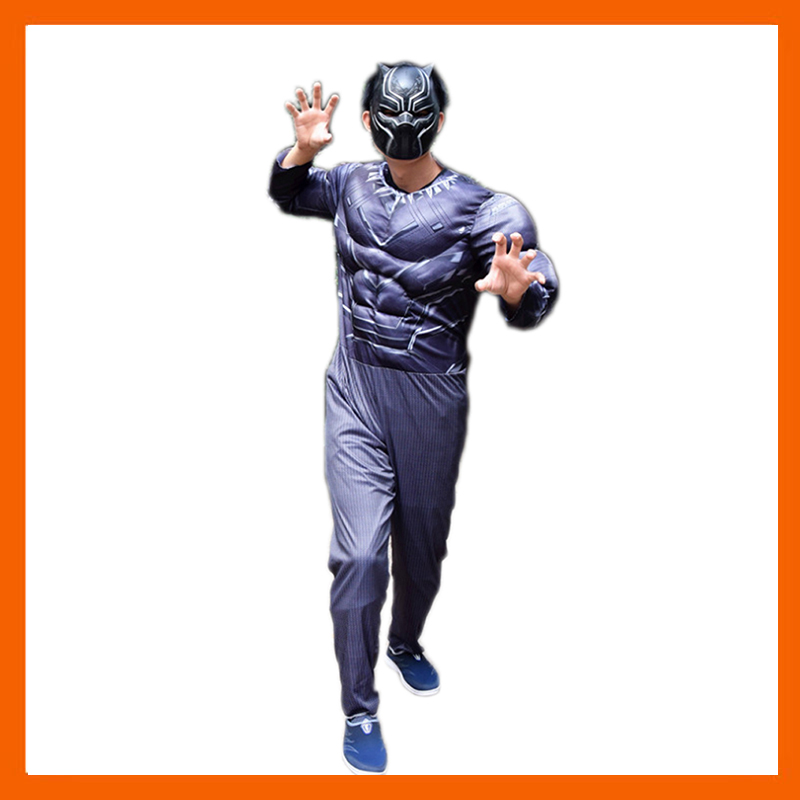 2018 NEW ARRIVAL BLACK PANT WITH MARK MUSCLE FANTASIA WITH ALL AVENGERS SUPERHEROS COSPLAY ADULT HALLOWEEN GIFT COSTUME