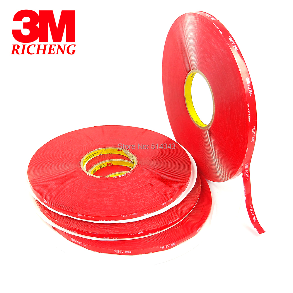 1MM Thickness VHB Silicone Tape Clear Acrylic Double Side Rubber Tape 3M 4910 15MM*33M 5ROLL/Lot 10 x double end thread m4 10 rubber damper rubber mount mount size 15mm 15mm