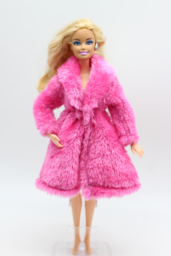 Image 3 - 15 Type High Quality Fashion Handmade Clothes Dresses Grows Outfit Flannel coat for Barbie Doll dress for girls best gift-in Dolls Accessories from Toys & Hobbies