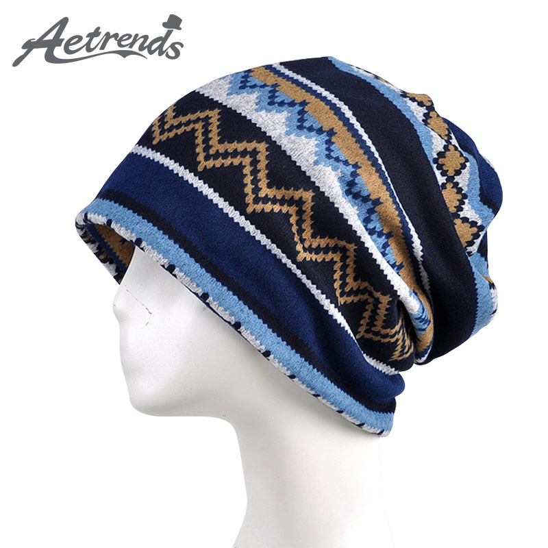 [AETRENDS] 2017 Multi-Function Hip Hop Skullies Beanies Collar Scarf Winter Hats Men Women Knitting Warm Cap Beanie Hat Z-5878 [jamont] love skullies women bandanas hip hop slouch beanie hats soft stretch beanies q3353