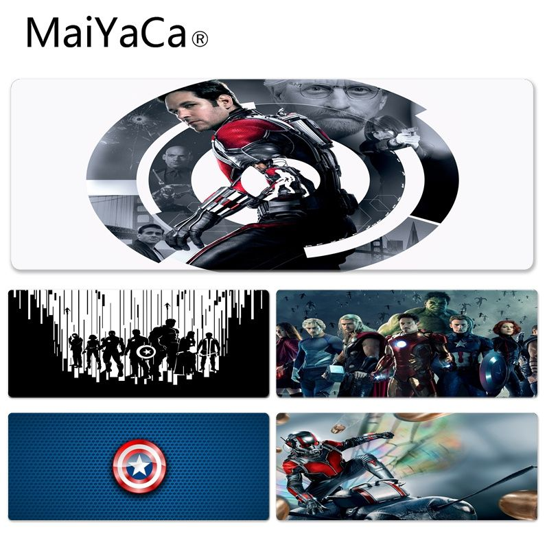 MaiYaCa Your Own Mats Captain America Silicone Pad to Mouse Game Size for 30x90cm 40x90cm Rubber Rectangle Mousemats