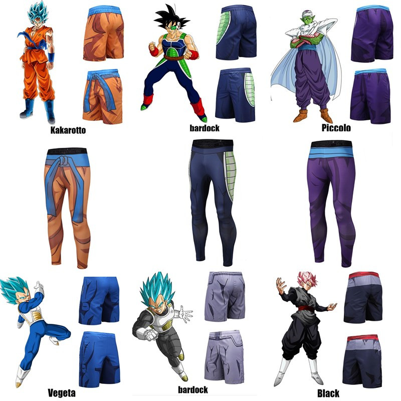 Anime Dragon Ball Z Pants Compression Tight Trousers Vegeta Son Goku Kakarotto Piccolo Cosplay Costume Shorts Sports Pant