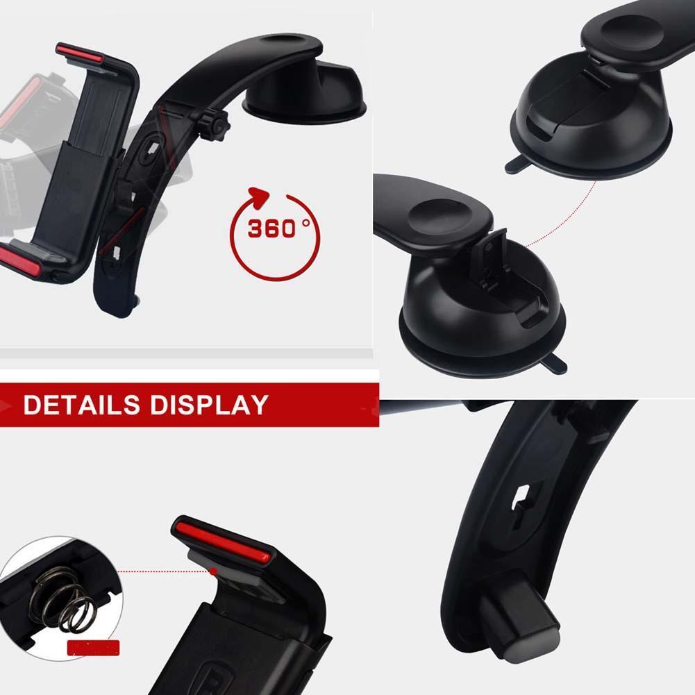 60-90 мм Универсальный Dashboard Телефон держатель для iPhone 7 6 5 мобильный телефон подставка держатель Гибкая стол крепление держатель для Samsung