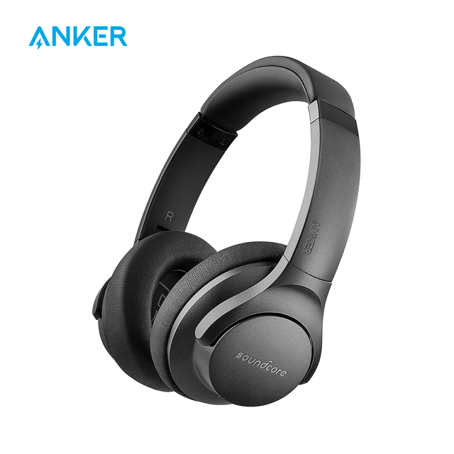 Anker Soundcore Life 2 Bluetooth Headphones  Active Noise Cancelling Wireless Headset with Hi Res, 30h Playtime, BassUp Tech
