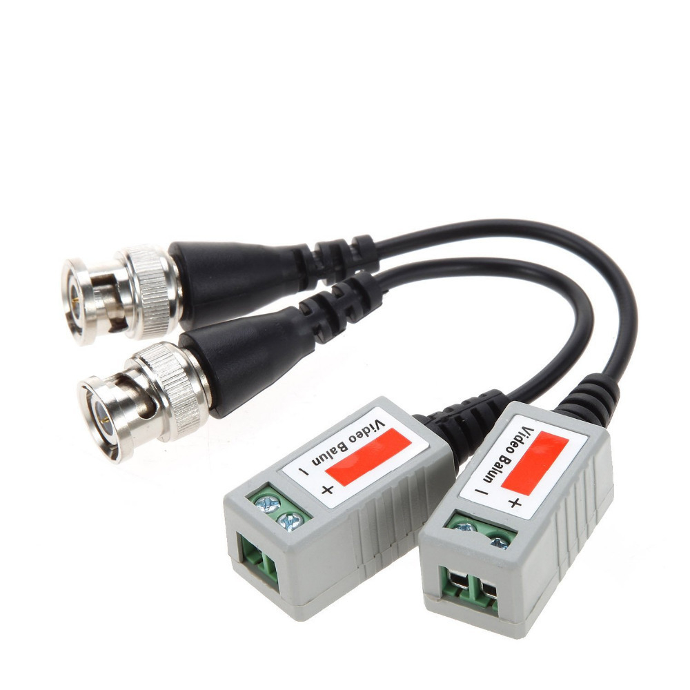5Pairs/10Pairs Coax CAT5 Camera CCTV Passive BNC Video Balun To UTP Transceiver Connector 2000ft Distance Twisted Cable
