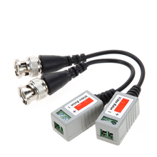цена на 5Pairs/10Pairs Coax CAT5 Camera CCTV Passive BNC Video Balun to UTP Transceiver Connector 2000ft Distance Twisted Cable